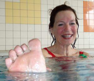 wateryoga Deventer Twello Epse en Terwolde, ook de voeten worden niet vergeten